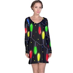 Christmas light Long Sleeve Nightdress