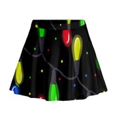 Christmas Light Mini Flare Skirt