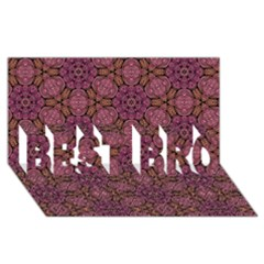 Fuchsia Abstract Shell Pattern BEST BRO 3D Greeting Card (8x4)