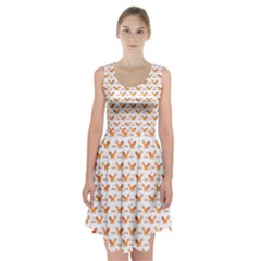 Fox and Laurel Pattern Racerback Midi Dress