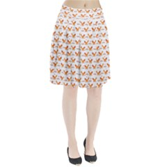 Fox and Laurel Pattern Pleated Skirt
