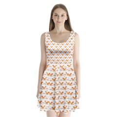 Fox and Laurel Pattern Split Back Mini Dress