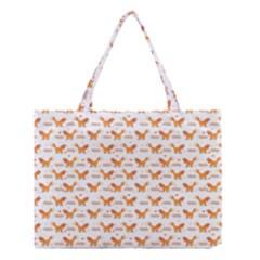 Fox and Laurel Pattern Medium Tote Bag