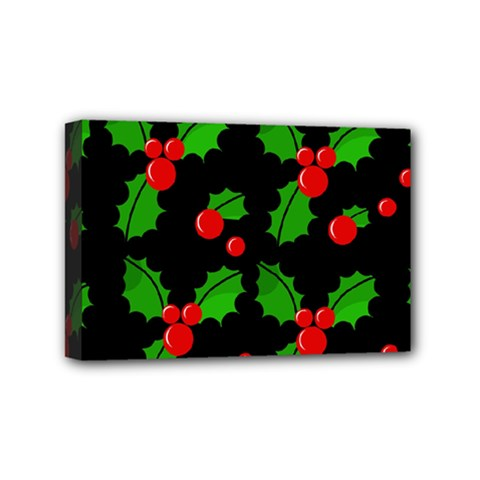 Christmas berries pattern  Mini Canvas 6  x 4