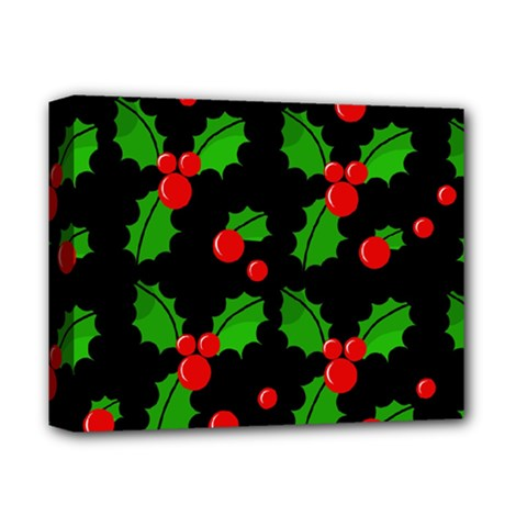 Christmas berries pattern  Deluxe Canvas 14  x 11