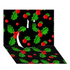 Christmas berries pattern  Apple 3D Greeting Card (7x5)