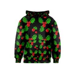 Christmas berries pattern  Kids  Pullover Hoodie