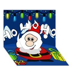Santa Claus  Apple 3D Greeting Card (7x5)