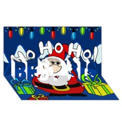 Santa Claus  Best Sis 3d Greeting Card (8x4)