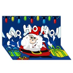 Santa Claus  SORRY 3D Greeting Card (8x4)