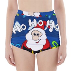 Santa Claus  High Waisted Bikini Bottoms
