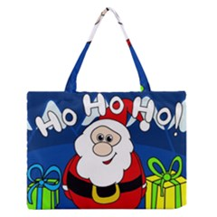 Santa Claus  Medium Zipper Tote Bag