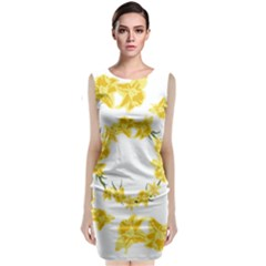 Daffodils Illustration  Classic Sleeveless Midi Dress