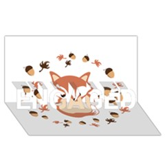 Fox In Autumn ENGAGED 3D Greeting Card (8x4)
