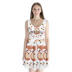 Fox In Autumn Split Back Mini Dress