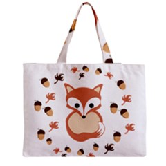Fox In Autumn Medium Zipper Tote Bag