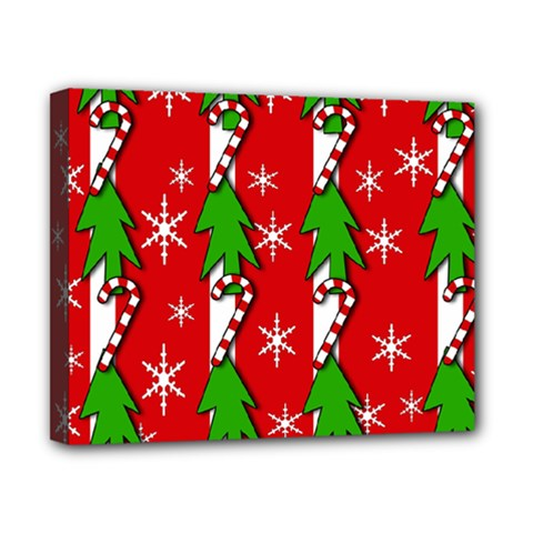 Christmas tree pattern - red Canvas 10  x 8