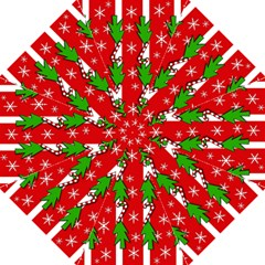 Christmas tree pattern - red Straight Umbrellas