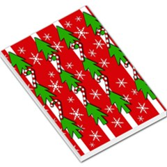 Christmas Tree Pattern   Red Large Memo Pads