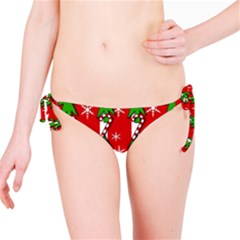 Christmas tree pattern - red Bikini Bottom