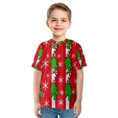 Christmas tree pattern - red Kid s Sport Mesh Tee