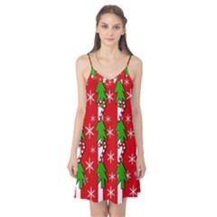 Christmas tree pattern - red Camis Nightgown