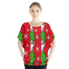 Christmas Tree Pattern   Red Blouse