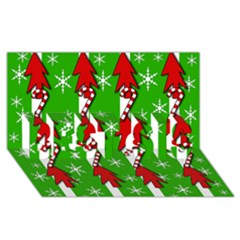 Christmas pattern - green BEST SIS 3D Greeting Card (8x4)