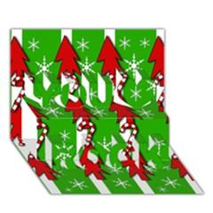 Christmas pattern - green You Rock 3D Greeting Card (7x5)