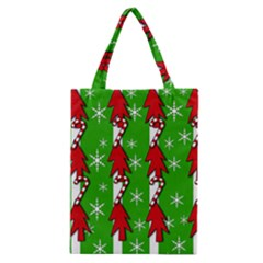 Christmas pattern - green Classic Tote Bag