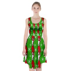 Christmas pattern - green Racerback Midi Dress