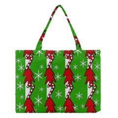 Christmas pattern - green Medium Tote Bag