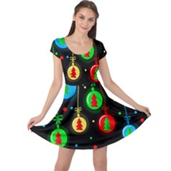 Christmas balls Cap Sleeve Dresses