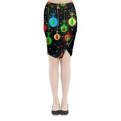 Christmas balls Midi Wrap Pencil Skirt