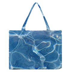 Pool Water Medium Zipper Tote Bag