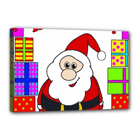 Santa Claus pattern - transparent Canvas 18  x 12