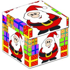 Santa Claus pattern - transparent Storage Stool 12