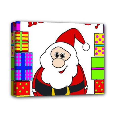 Santa Claus pattern - transparent Deluxe Canvas 14  x 11
