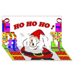 Santa Claus pattern - transparent #1 DAD 3D Greeting Card (8x4)