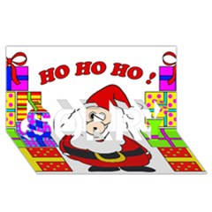 Santa Claus pattern - transparent SORRY 3D Greeting Card (8x4)