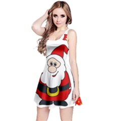 Santa Claus pattern - transparent Reversible Sleeveless Dress