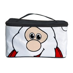 Santa Claus pattern - transparent Cosmetic Storage Case