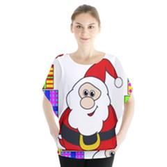 Santa Claus pattern - transparent Blouse
