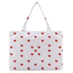 Cute Hearts Motif Pattern Medium Zipper Tote Bag