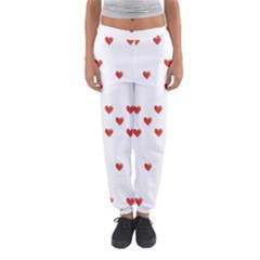 Cute Hearts Motif Pattern Women s Jogger Sweatpants