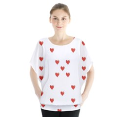 Cute Hearts Motif Pattern Blouse