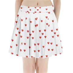 Cute Hearts Motif Pattern Pleated Mini Skirt