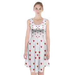 Cute Hearts Motif Pattern Racerback Midi Dress