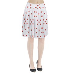 Cute Hearts Motif Pattern Pleated Skirt
