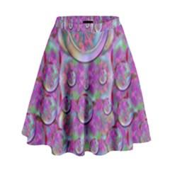 Paradise Of Wonderful Flowers In Eden High Waist Skirt